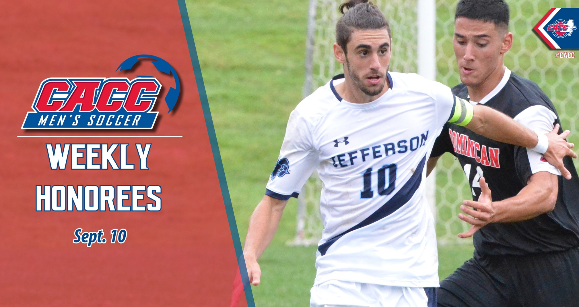 CACC Men's Soccer Weekly Honorees (Sept. 10)