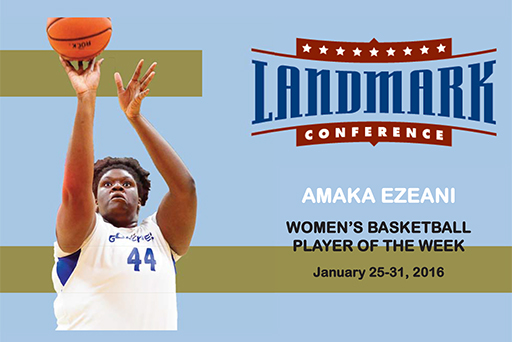 Ezeani Earns Weekly Honor from Landamrk Conference