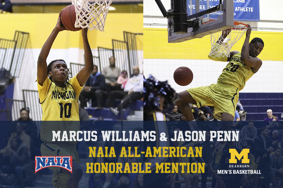 Photo for Penn, Williams named NAIA All-American Honorable Mentions