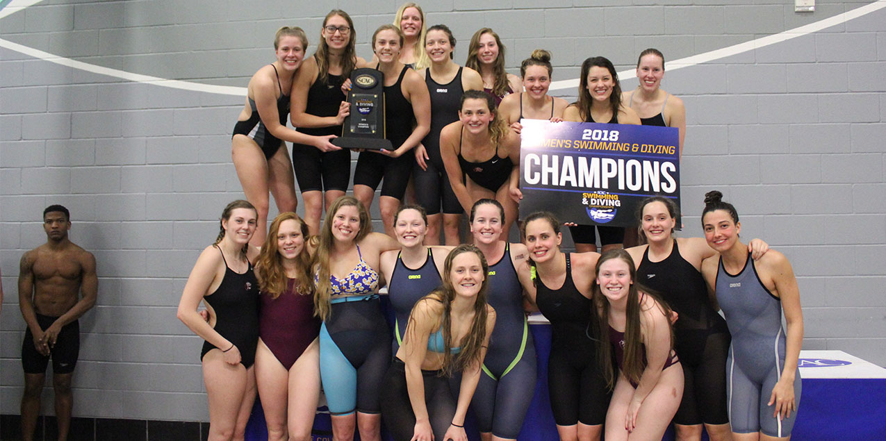 Trinity Earns 15th Consecutive SCAC Women's Swimming & Diving Championship