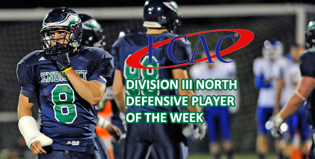 Linebacker Nick Scozzaro named ECAC Defensive Player of the Week