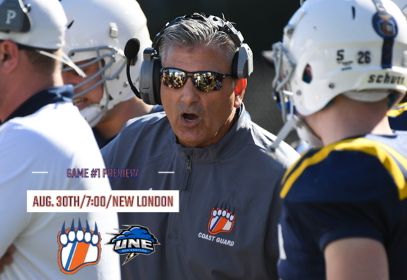 GAME #1 FOOTBALL PREVIEW: UNE Visits New London for Program's Football Debut