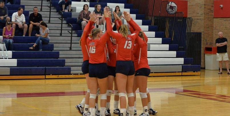 Volleyball Drops Four Set Match to Huskies