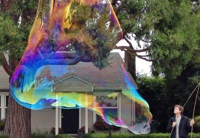 Huge soap bubble