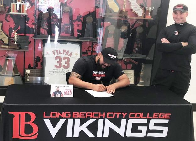 LBCC Football's Valera Signs to Division 1 Team