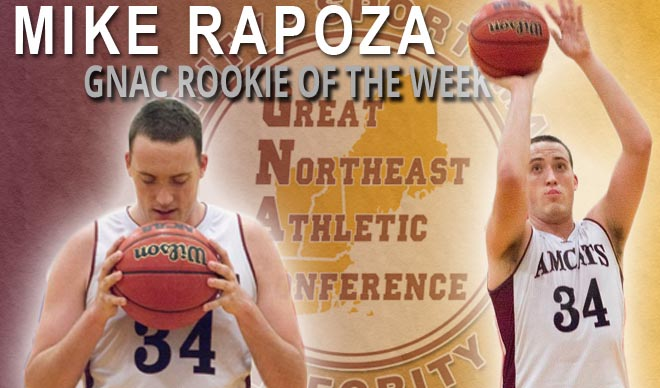 Rapoza Named GNAC Rookie of the Week for Fifth Time