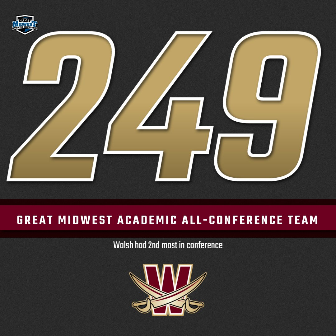 249 Walsh Student-Athletes Named Academic All-Conference