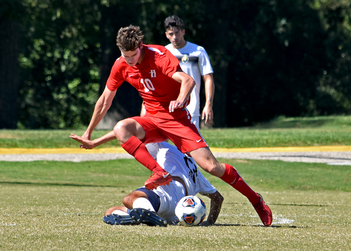 Conner Howard scored Huntingdon's goal in a 3-1 loss to Pfeiffer on Sunday.