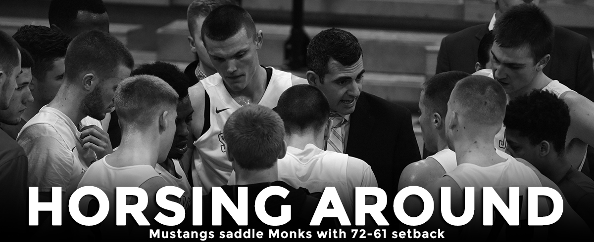 Mustangs Saddle Monks with 72-61 Setback