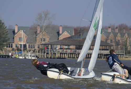 College sailing race