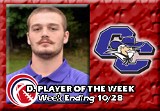Hunter Atwood-Curry, CCC Football: Defensive Player of the Week