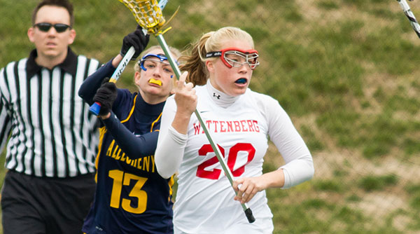 Mallory Skrobot picked up her first collegiate lacrosse goal in an 18-3 victory over Hiram on Saturday. File Photo | Erin Pence