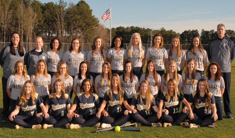 2018 N.C. Wesleyan Softball Team