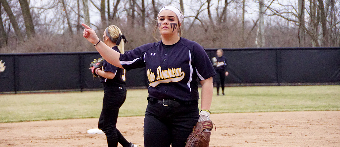 Hot Bats And Pitching Power Softball To Sweep At Walsh