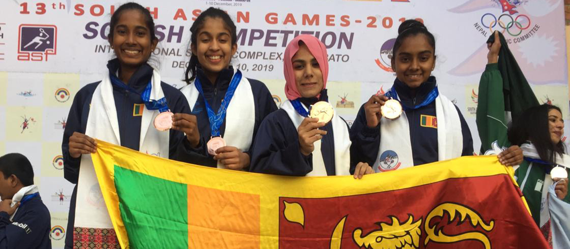 Squash's Methsarani Helps Sri Lanka to Bronze Medal at 13th South Asian Games in Nepal