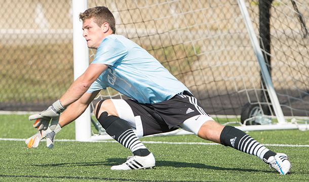 Men's Soccer Blanks Mustangs, 3-0