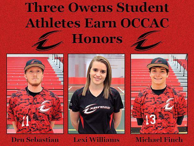 Three Owens Student-Athletes Earn Conference Honors