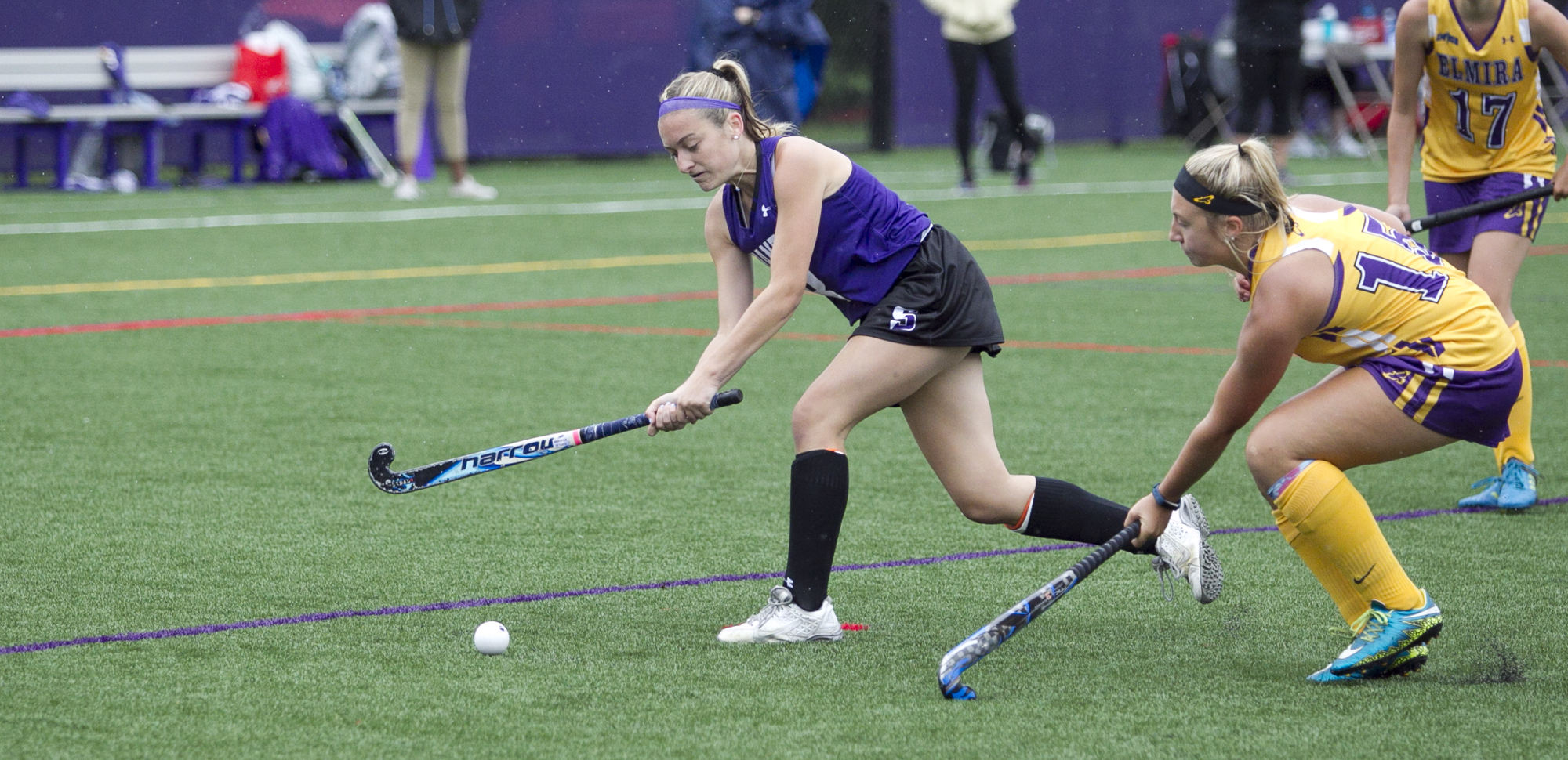 Brianna Witt scored her first collegiate goal on Saturday in Scranton's 3-2, double overtime loss to Catholic.