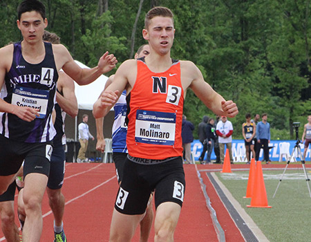 Junior Matt Molinaro qualifies for 800-meter run finals at 2017 NCAA Div. III Outdoor Track & Field Championships
