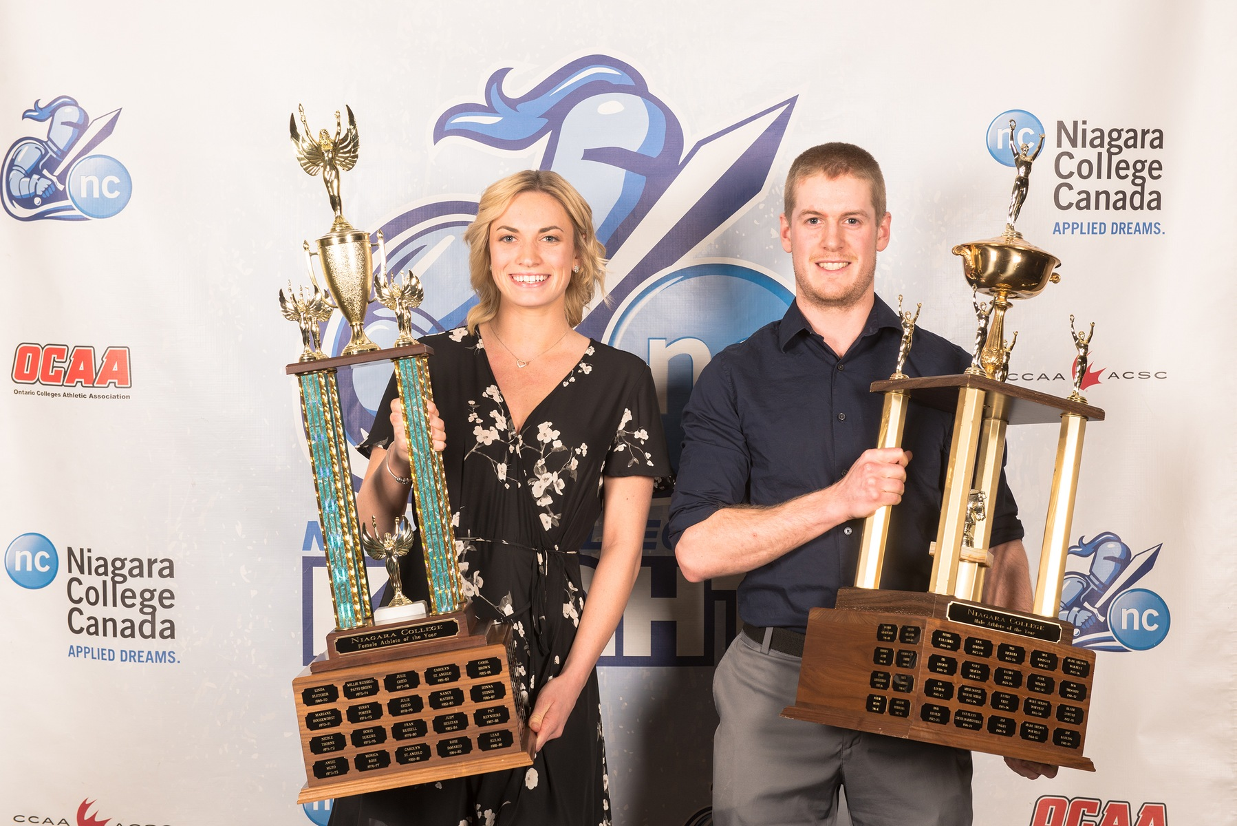 Dixon and Koslowski named Niagara Knights Athletes of the Year