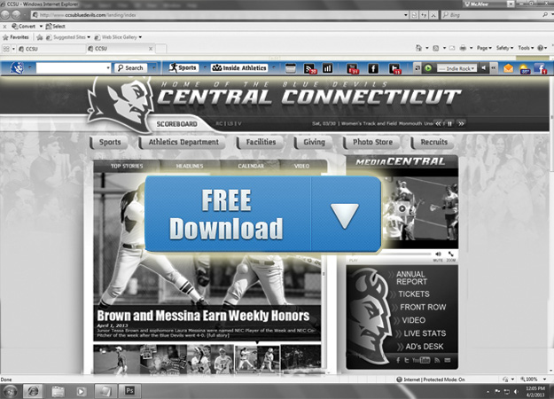 New CCSU Athletics Web Toolbar - Free!