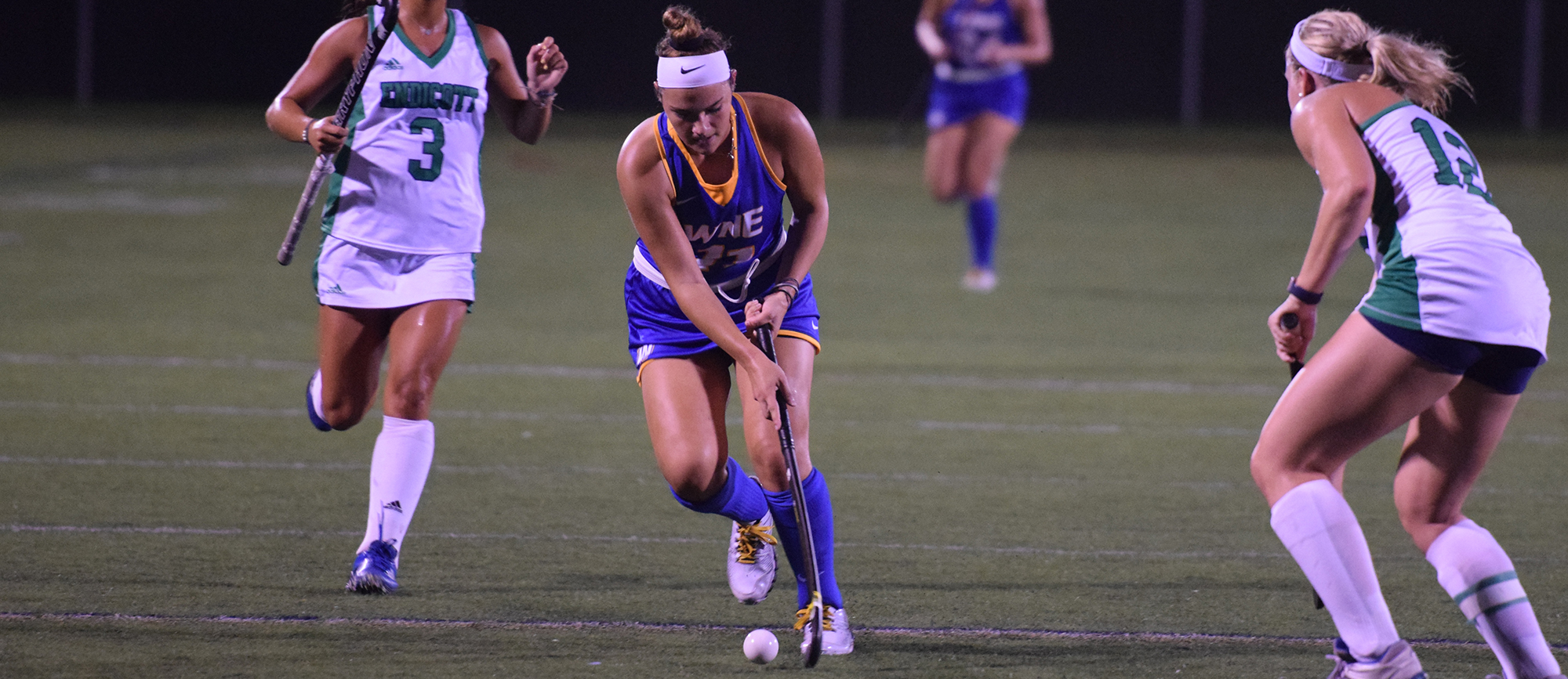 Freshman Taylor Klesyk scored for the third straight game on Tuesday night in Western New England's 2-1 loss to Endicott at Golden Bear Stadium. (Photo by Rachael Margossian)