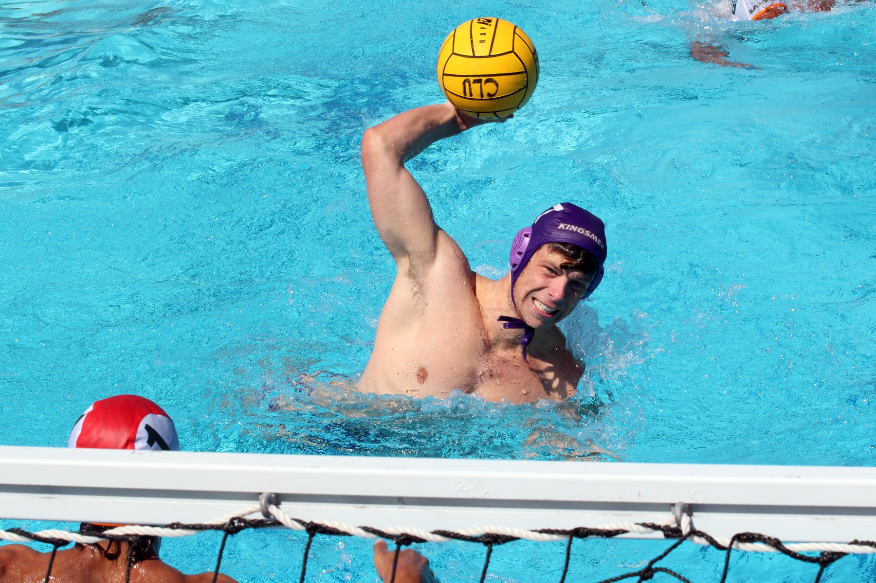 Thomas Randles scored his first collegiate goal in a 16-12 SCIAC win over La Verne today (Photo: Tracy L. Olson).