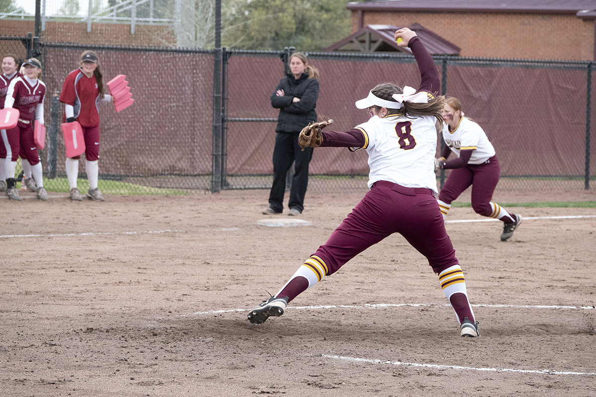 Pearl River's softball team split its doubleheader with visiting Coastal Alabama-North at Lady Wildcat Stadium in Poplarville, Miss. on Saturday, March 16, 2019. (KRISTI HARRIS/PRCC ATHLETICS)