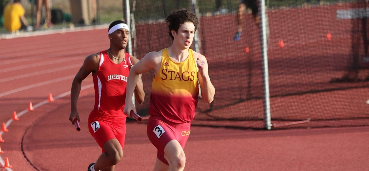 The CMS men's 4x400 relay team came in third at the Westmont On Your Marks meet