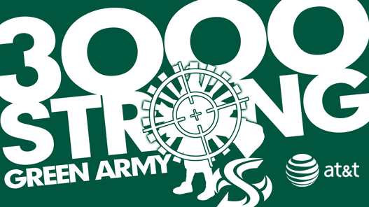 GREEN ARMY SURPASSES 3000 MEMBERS IN FIRST YEAR