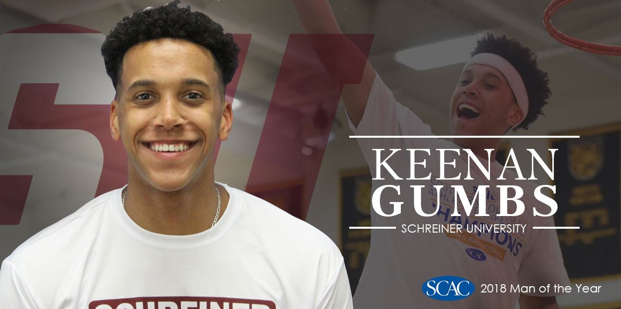 Schreiner's Gumbs Selected SCAC Man of the Year