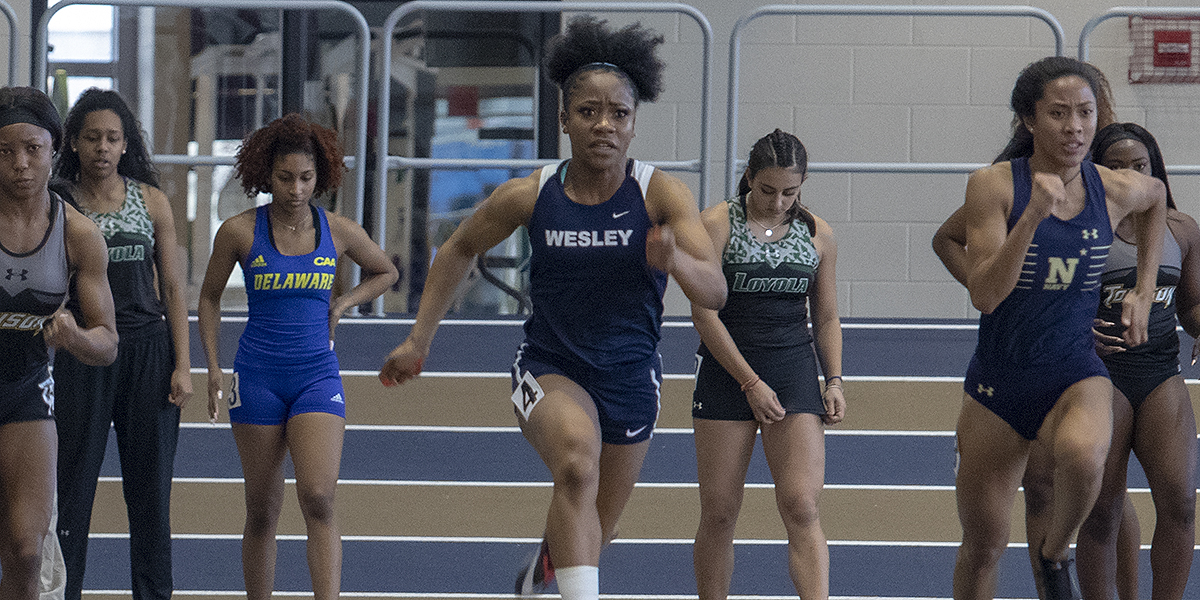 Sloboh breaks 60-meter school record at Navy Select