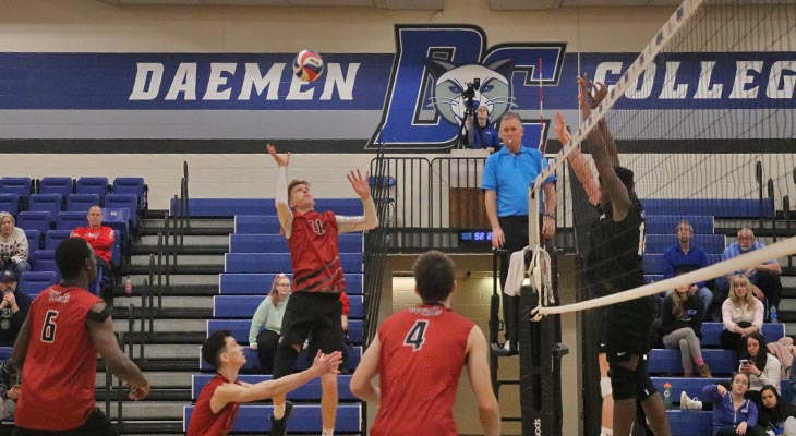No. 8 Men's Volleyball Team Takes Two at Daemen