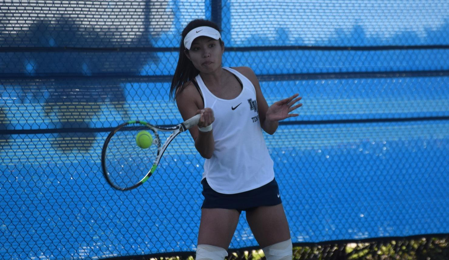 Women's tennis team takes care of Fullerton at home