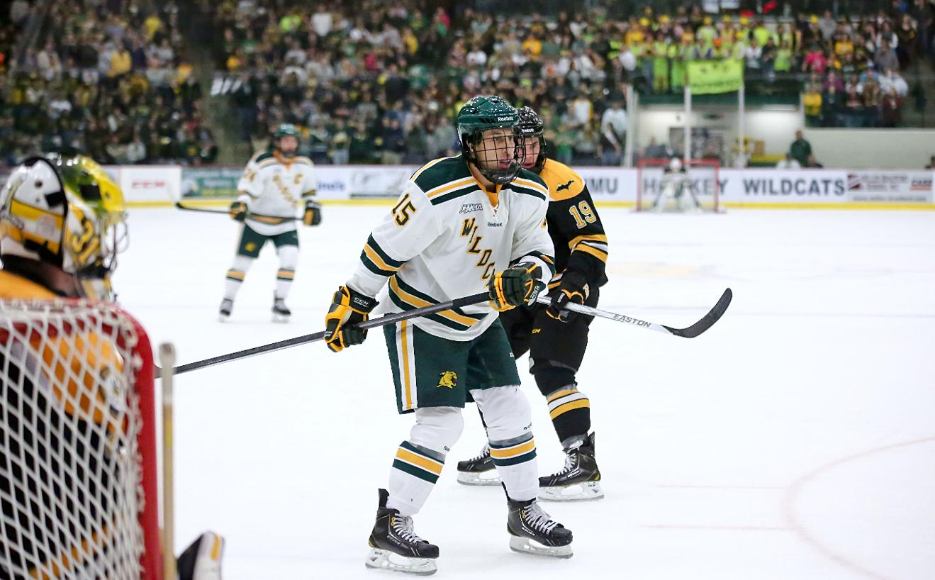 NMU Hockey Completes Sweep of No. 18 Wisconsin With 4-1 Win