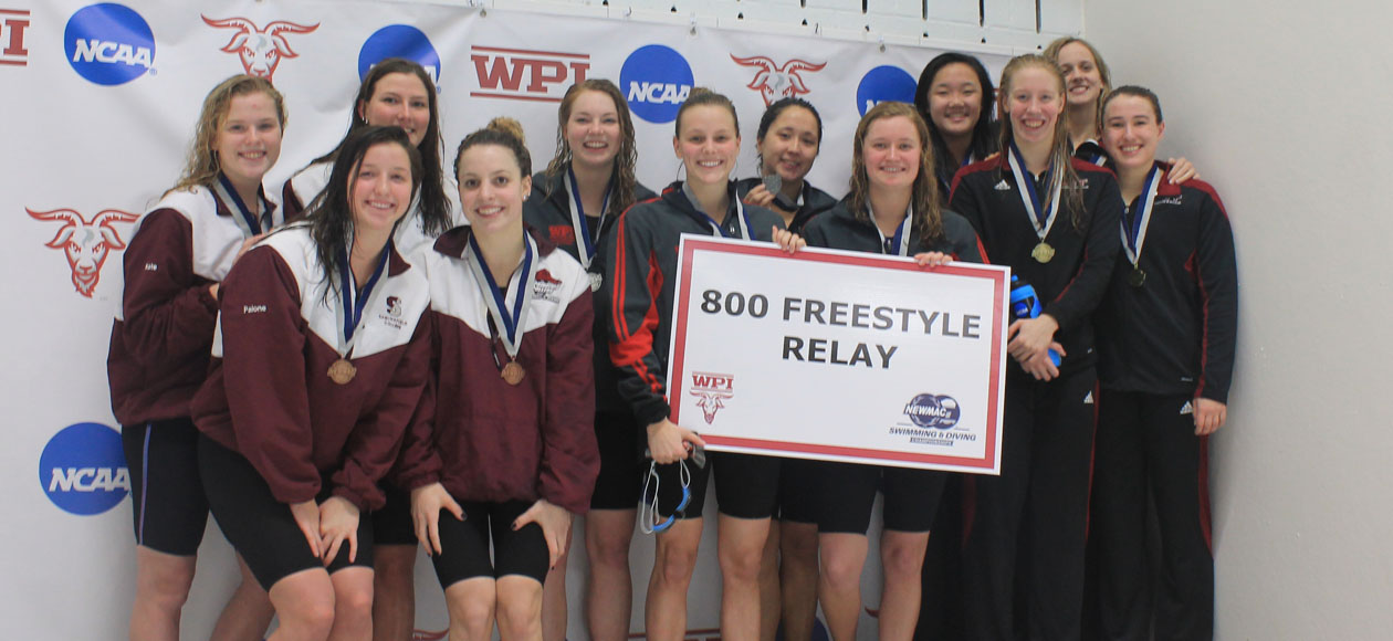 800 Free Relay Opens 2017 NEWMAC Championships For Women's Swimming and Diving