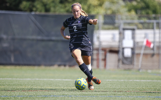 Sophomore forward Samantha Wargo had a pair of goals in Sunday's win over Alfred State.