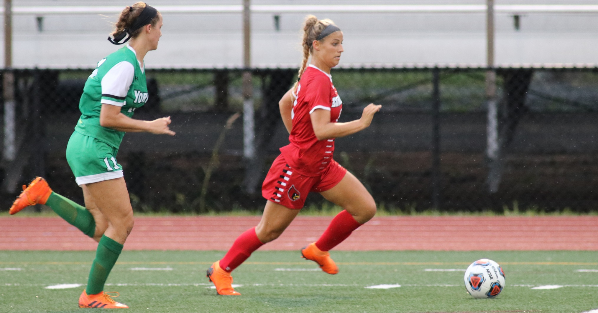 Cardinals' Four Goals Top York in Season Opener