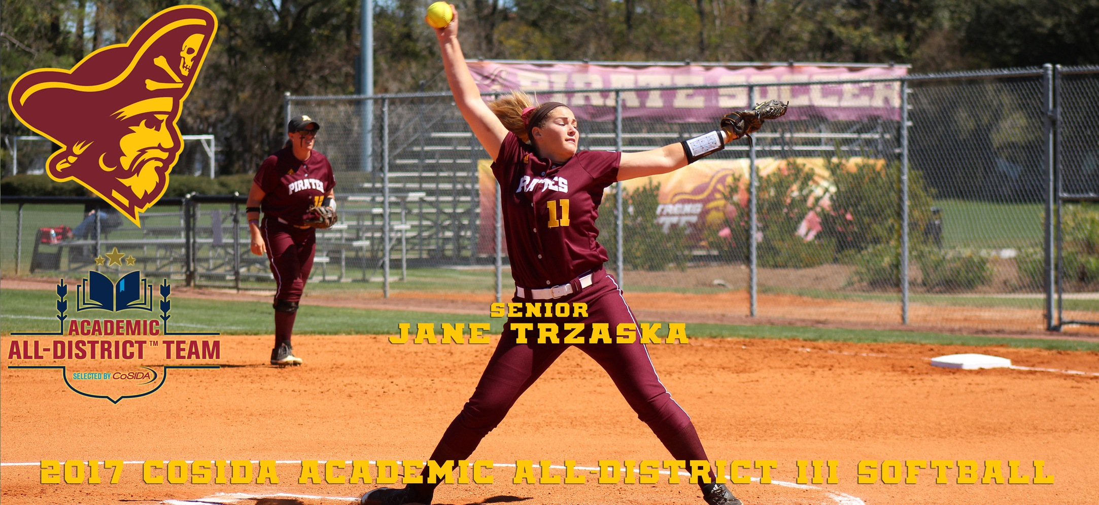 Jane Trzaska Earns CoSIDA Academic All-District III Softball Honors