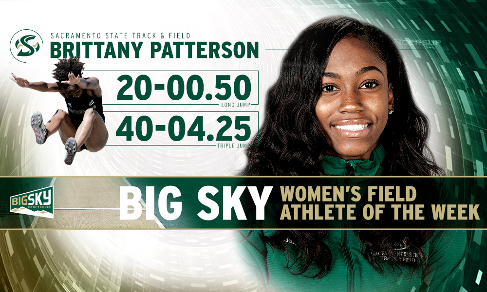BRITTANY PATTERSON NAMED BIG SKY WOMEN'S FIELD ATHLETE OF THE WEEK