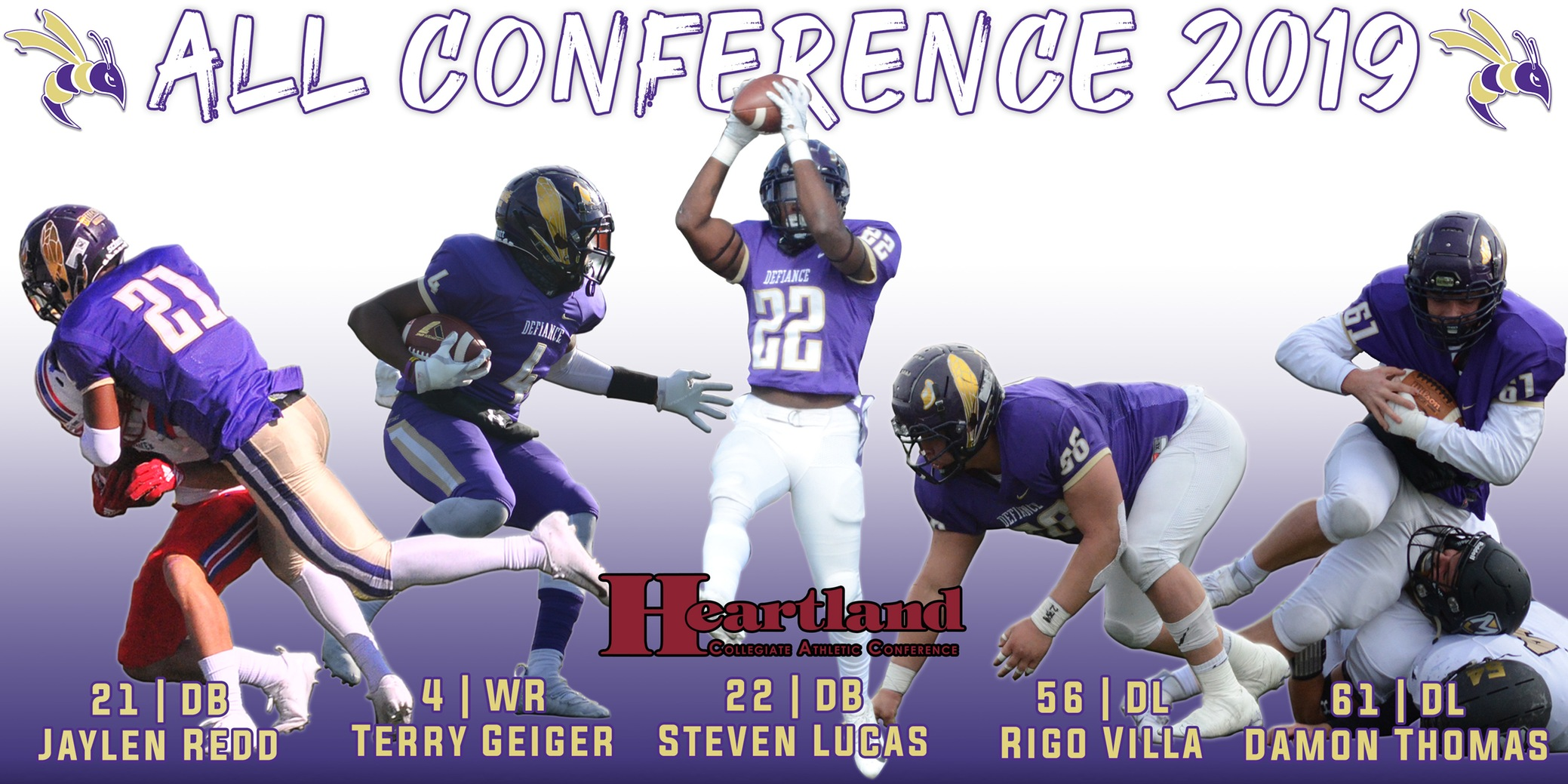 Five Yellow Jackets collect All-HCAC football honors