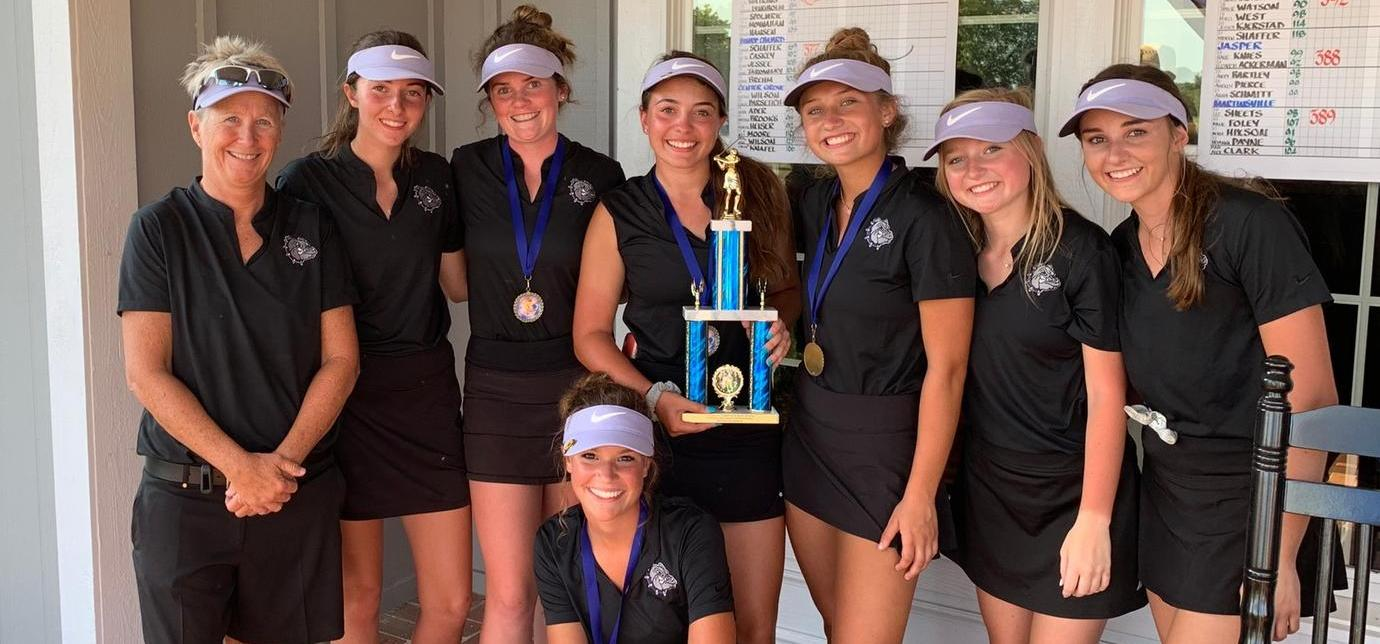 Varsity Girls' Golf Sweeps Whiteland Invitational