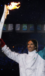 NBA All-Star Nash '96 Helps light Olympic Flame
