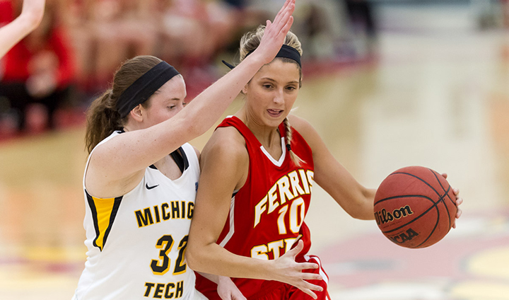 Early Second Half Run Fuels #13 Michigan Tech Past FSU In Women's Action At Wink
