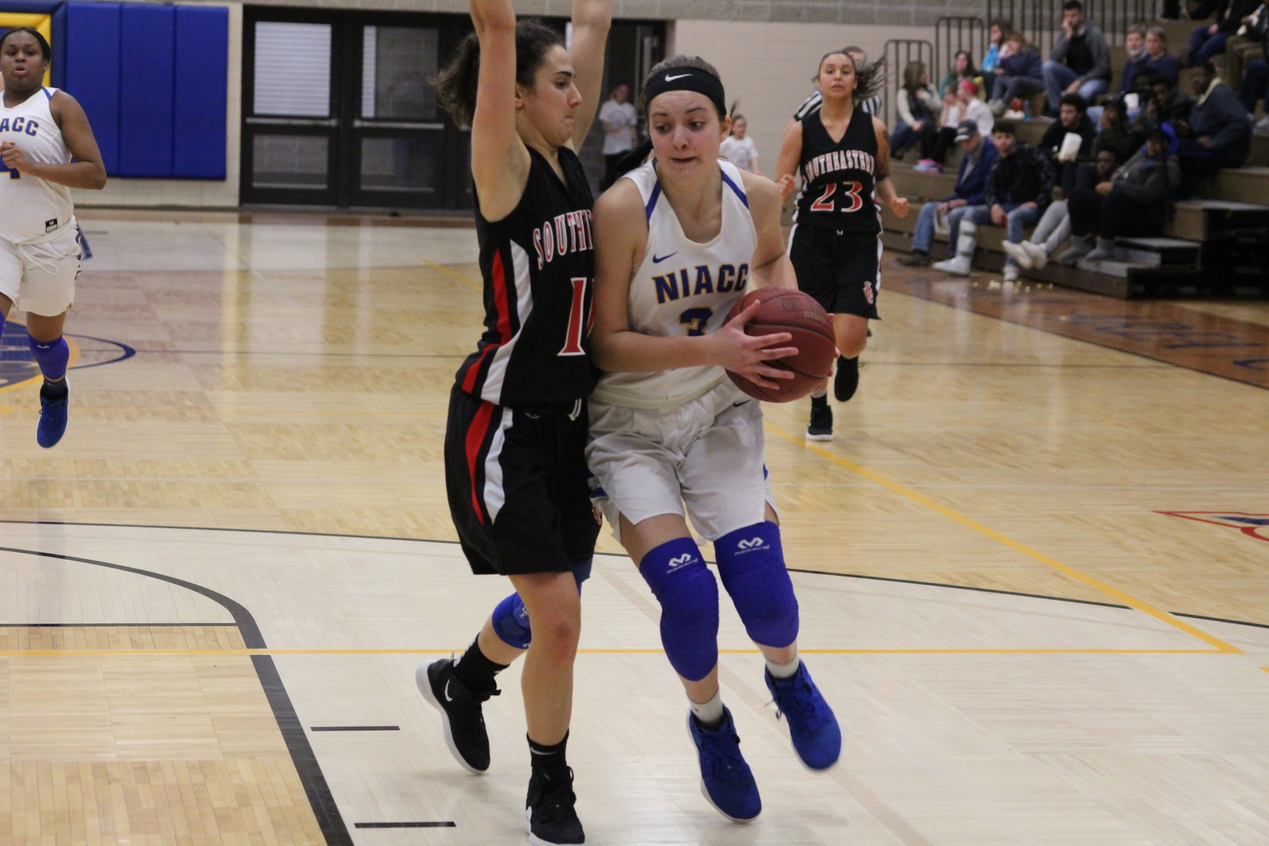 NIACC's Mandy Willems drives to the basket during last Sunday's game against Southeastern.