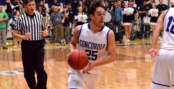 Scholz scores career-high 17, Men's Basketball earns key win at Edgewood
