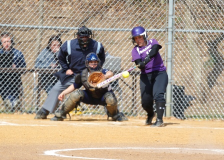 Junior Megan Reilly hit a pinch-hit 3-run home run to help spark the Royals to a dramatic 6-5 victory over Moravian College in the second game of a Landmark Conference doubleheader today at the Jessup Youth Softball Complex