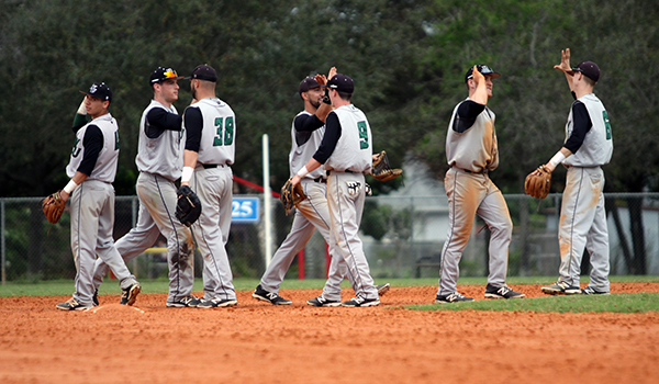 Offense Struggles but Wilmington Baseball Prevails, 2-0 and 3-1, Over American International
