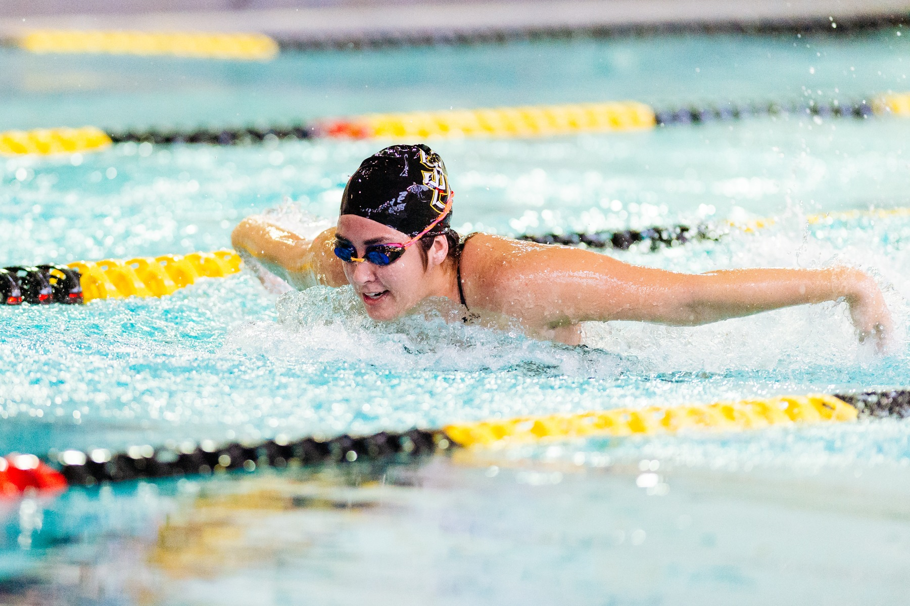 Women's Swimming Splits Meet With OBU and Rhodes
