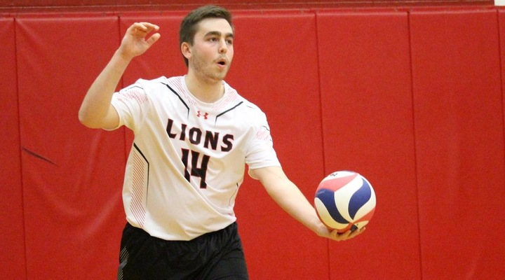 Men's Volleyball Deals 19 Aces in 3-0 Win Over Lesley